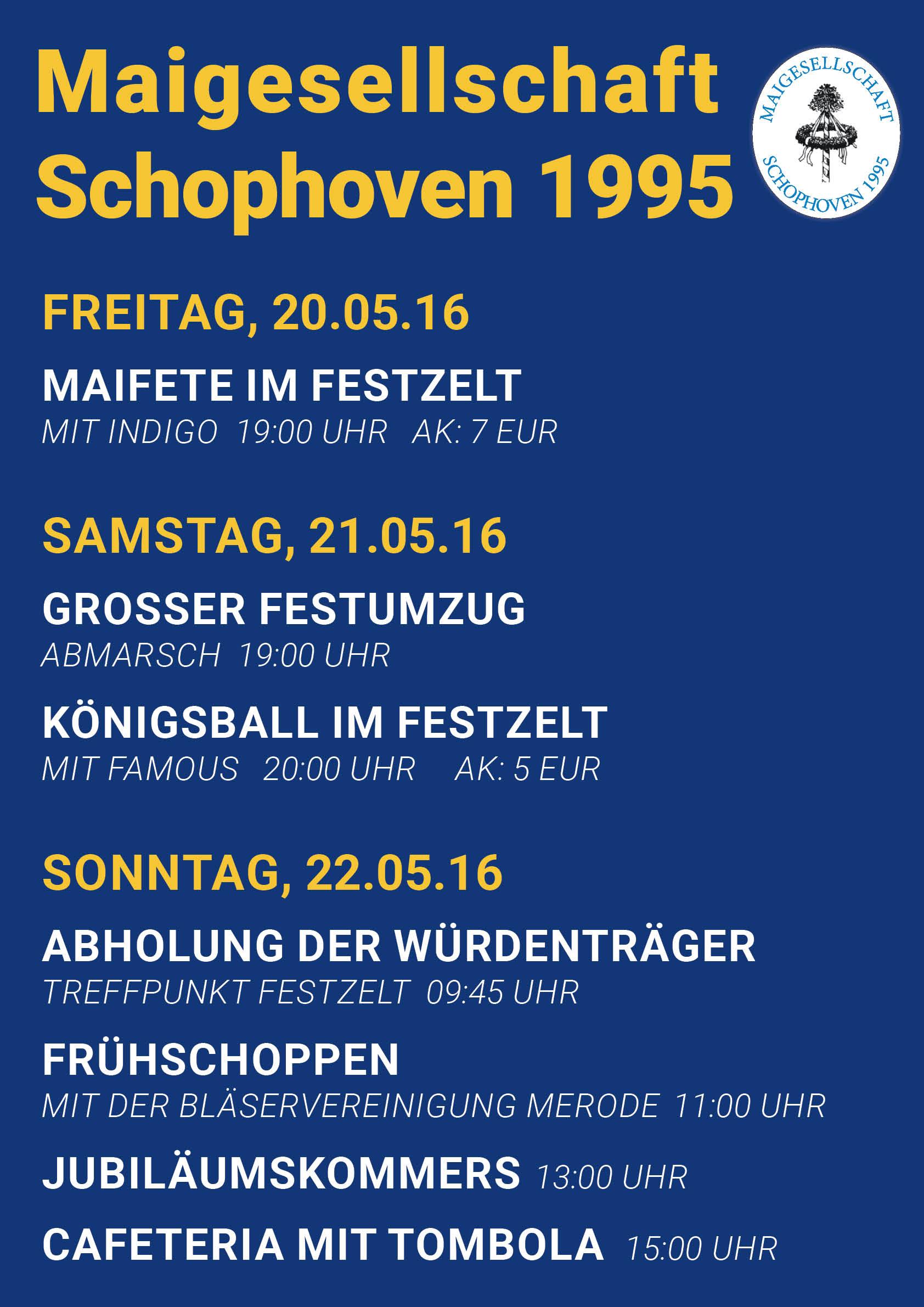 Plakat Maifest Schophoven 2016